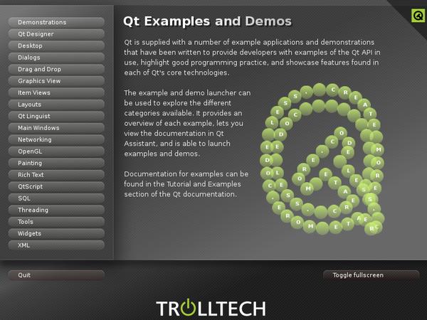 Qt 4 3: Examples and Demos Launcher   Документация