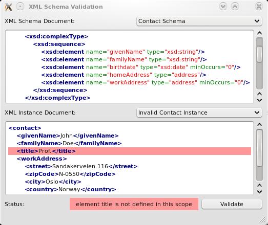 Реализация XML Schema
