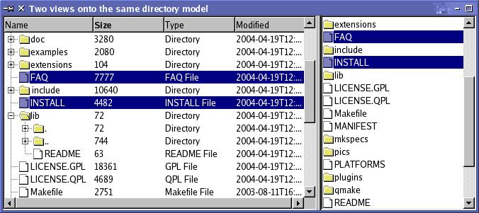 Qt 4 3: Using Models and Views   Документация