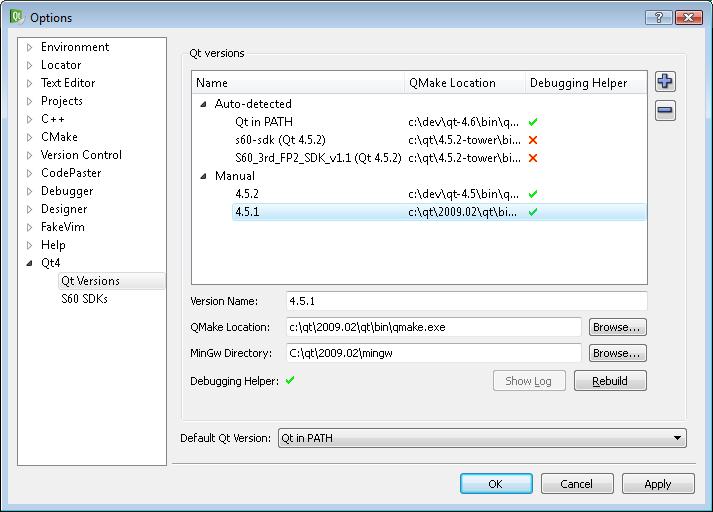 Qt Version Management | Документация