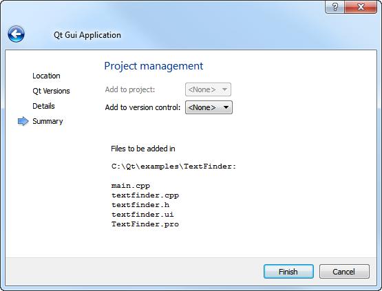 Creating a Qt C++ Application   Документация
